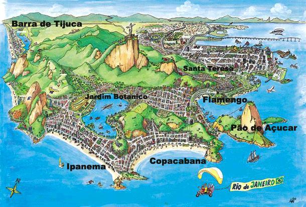 里约热内卢旅游地图
