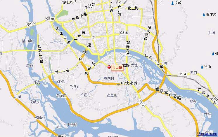 仓山镇地图