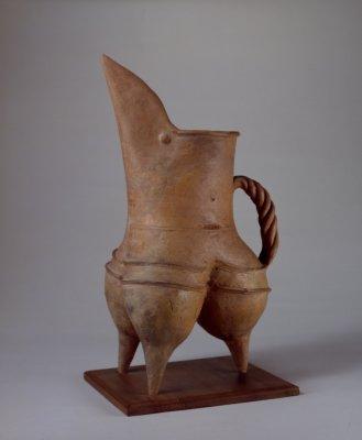【名称】 龙山文化红陶鬶   【类别】 陶器,红陶【年代】新石器时代