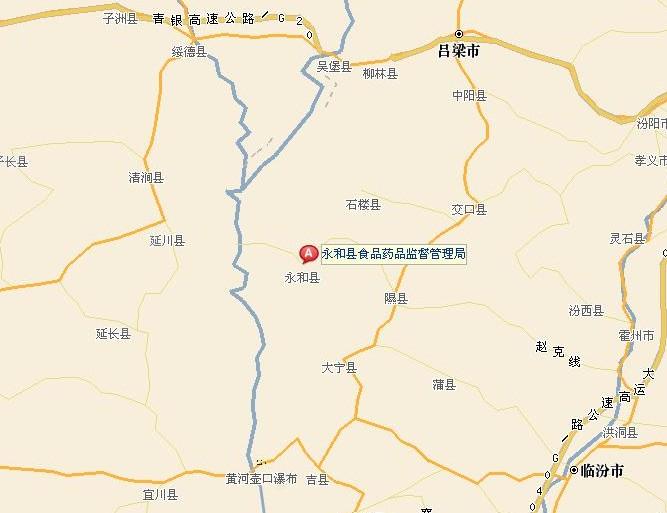 山西省永和县南庄乡地图