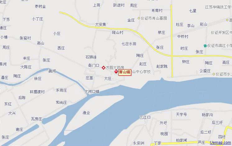 江苏省扬州市仪征市青山镇旅游地图