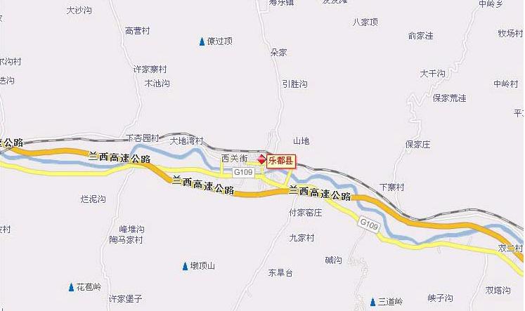 青海省乐都县地图