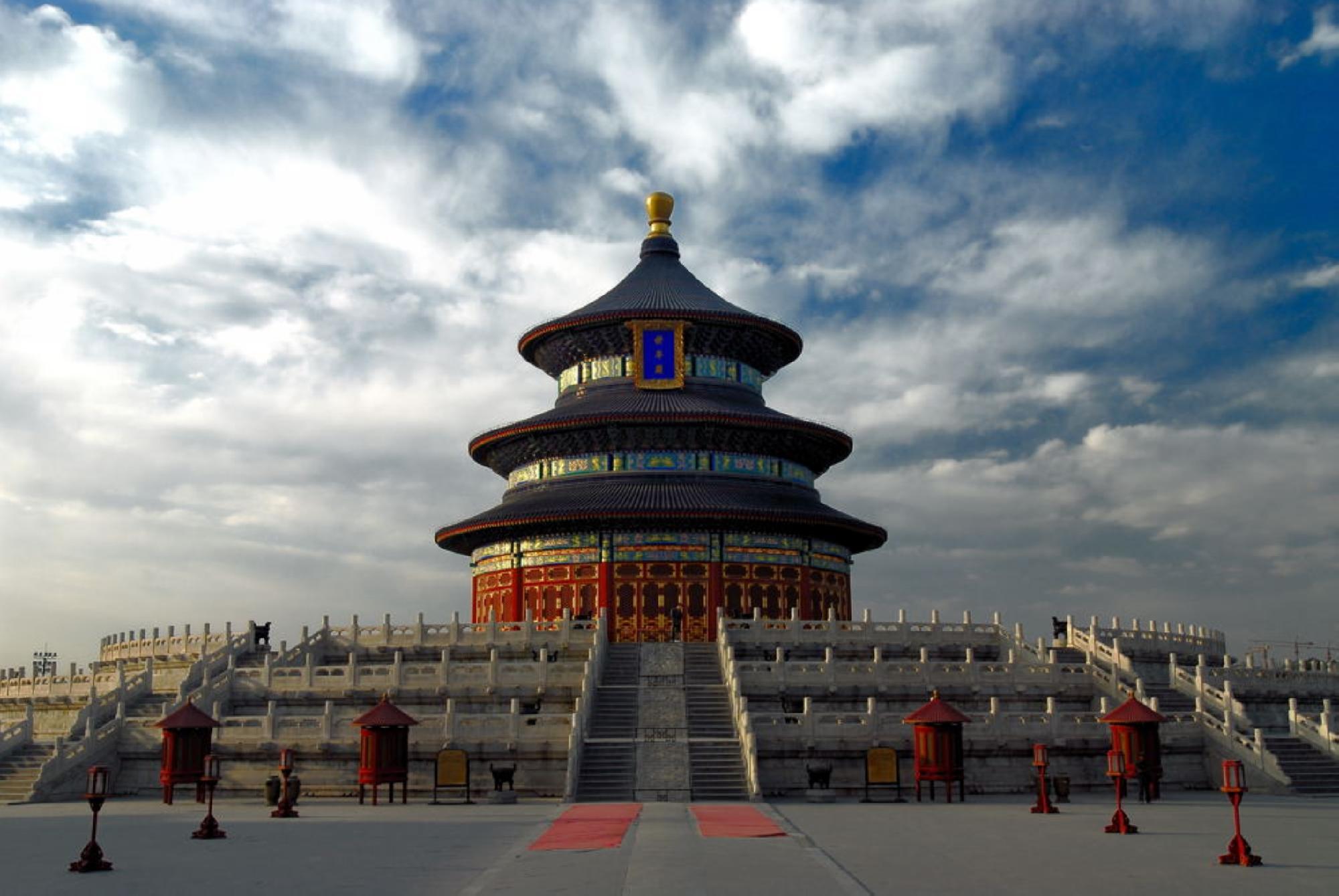 北京天坛总平面图手绘