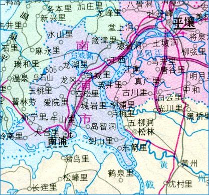 南浦市地图