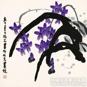 杨瑞芬中国写意画兰花作品