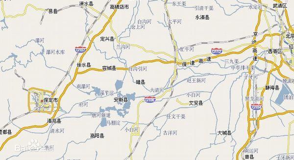 白沟地图高清版