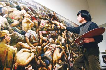 位于中国南京城西江东门茶亭东街原日军大屠杀遗址之一的万人坑.