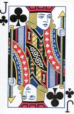 �9j�_各类扑克牌中的j