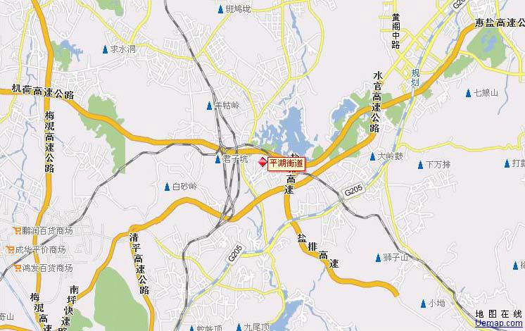 深圳市龙岗镇行政地图