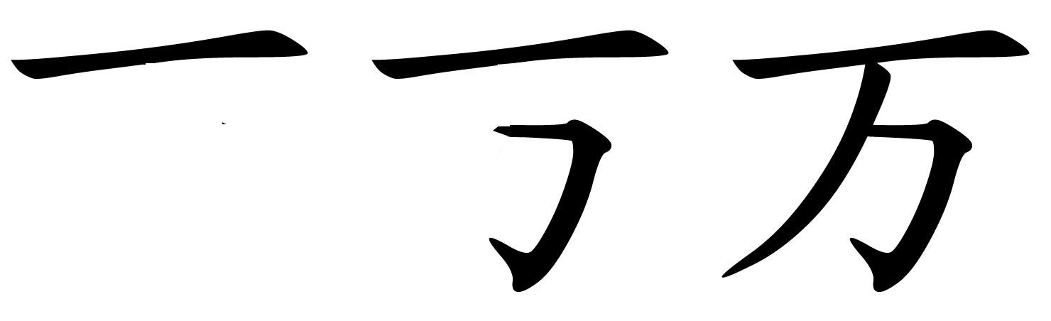 汉字笔画图片横折-这是什么笔顺呢