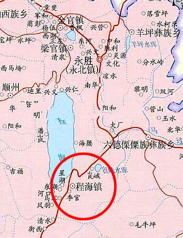 程海以及周边地图