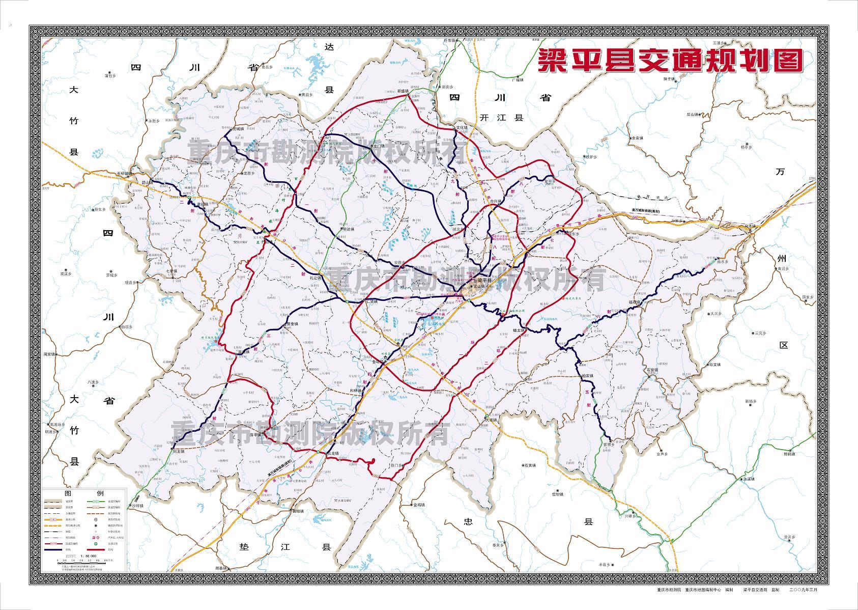 重庆大学 手绘地图
