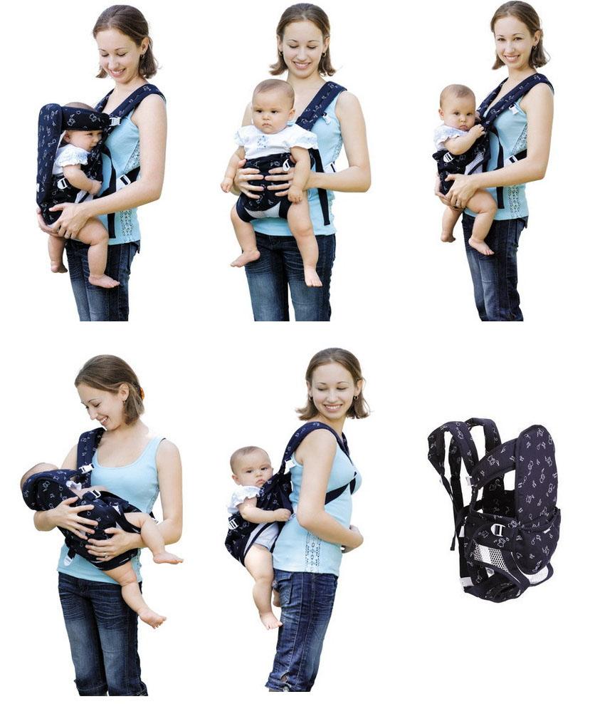 袋鼠婴儿背带使用图示