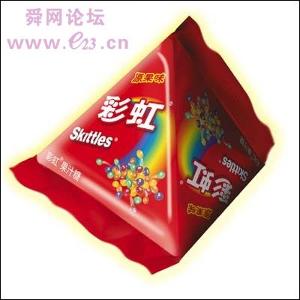 彩虹果汁糖,脆脆的糖果外衣包裹着不同味道的水果软图片