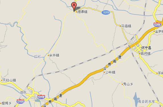 潜山县源潭镇地图位置