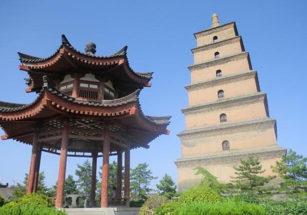 大雁塔(陕西西安南郊大慈恩寺内建筑)