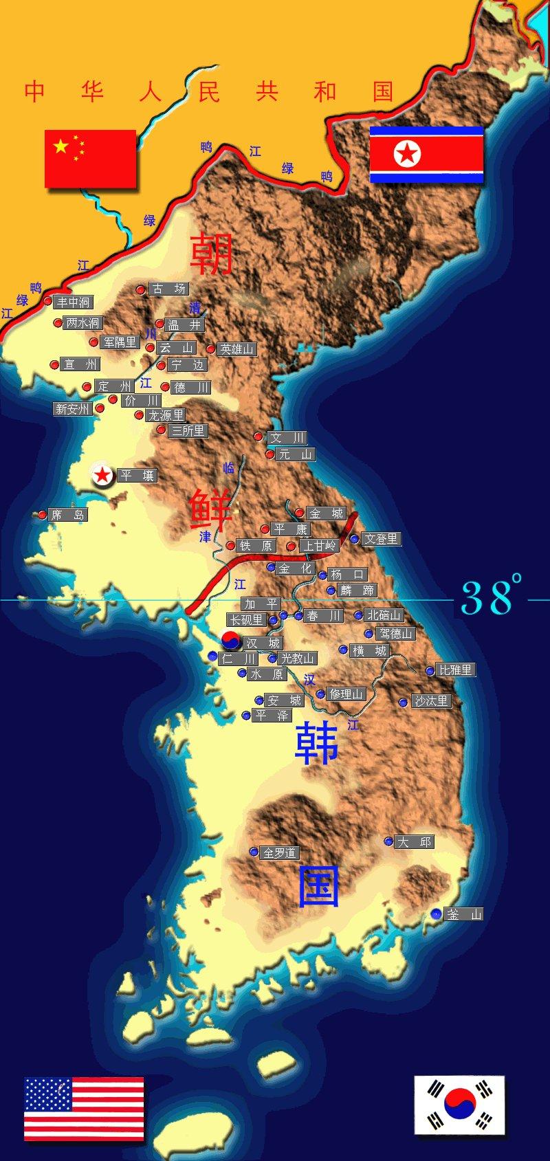 朝鲜到关岛的距离地图