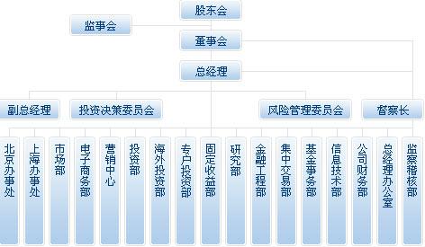 宝盈基金管理有限公司组织架构