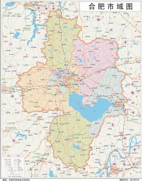 最新肥西县地图
