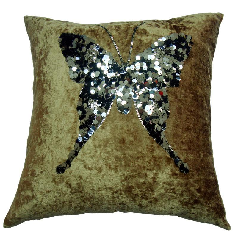 蓝色花纹抱枕贴图