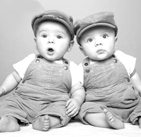 非同卵双胞胎的接近 同时,根据国外对双胞胎智力进行的研究,在同父母