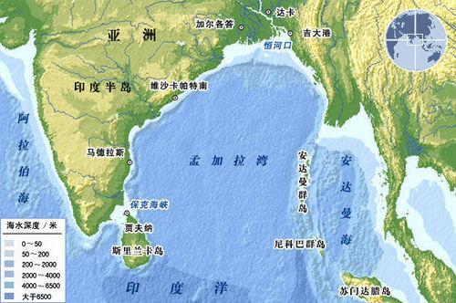 印度洋地图显示