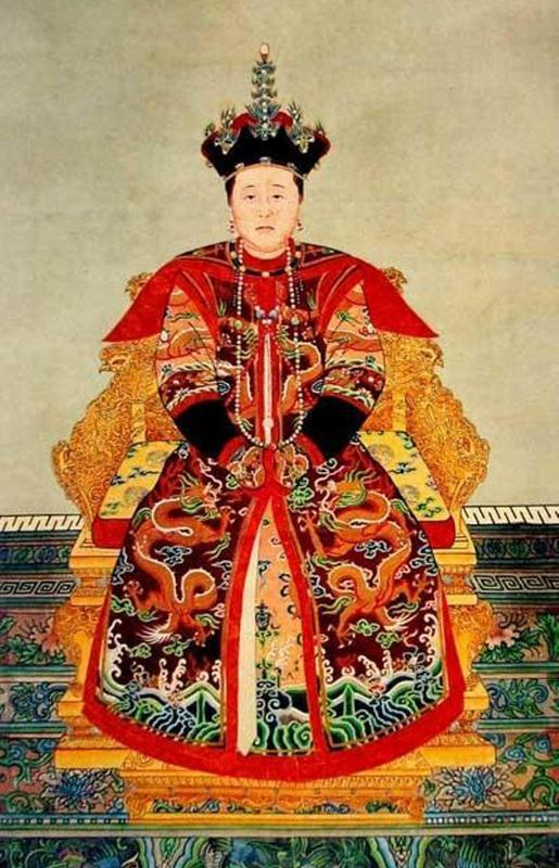 古装清朝皇后手绘图片