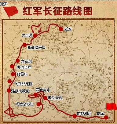 红军长征路线