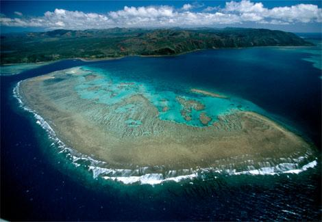 主岛新喀里多尼亚为一狭长岛屿,崎岖的山脉将该岛分为东西两部分,少平
