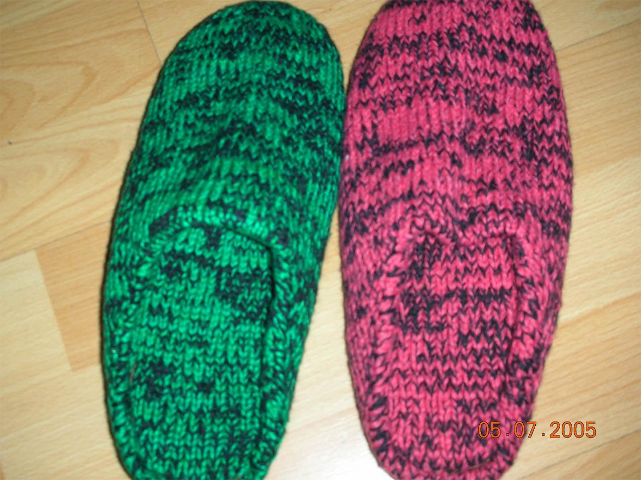 手工织毛线鞋中间花样图纸