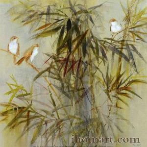 雕刻竹子手绘图