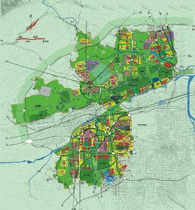 西咸新区总体规划图沣东新城、秦汉新城、沣西新城、泾河新城-西咸