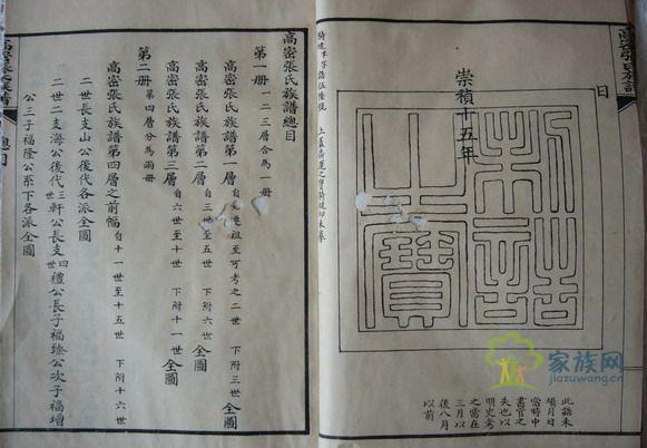 张氏家谱查询图片