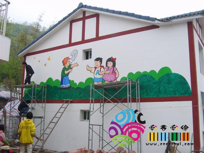 儿童房彩绘图案简单