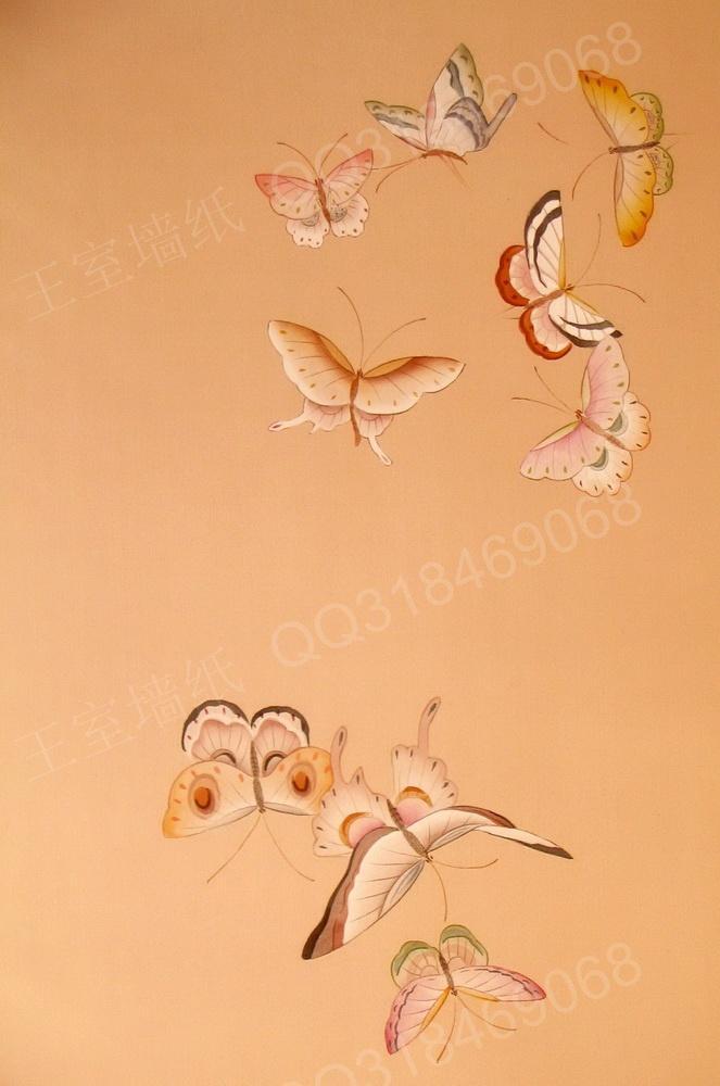 彩绘墙画 蝴蝶