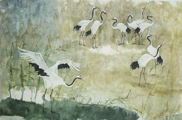 水彩画 以水为媒介调和颜料完成的绘画作品 搜狗百科