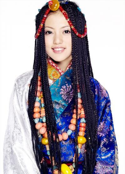 藏族室内彩色手绘图