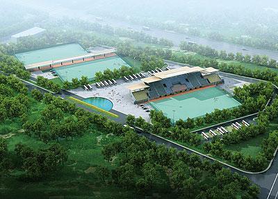南京曲棍球场鸟瞰图