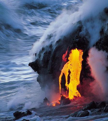火山简笔画图片大全
