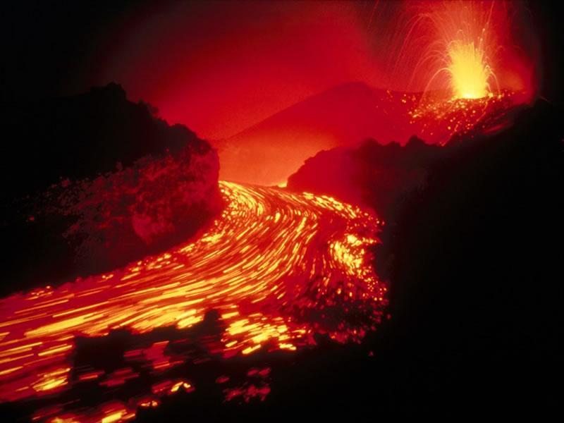 火山喷发场景