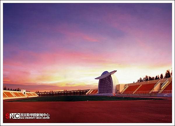 欧式风格和中国风格相结合的教学楼群,完备的体育,音乐,美术教学场馆