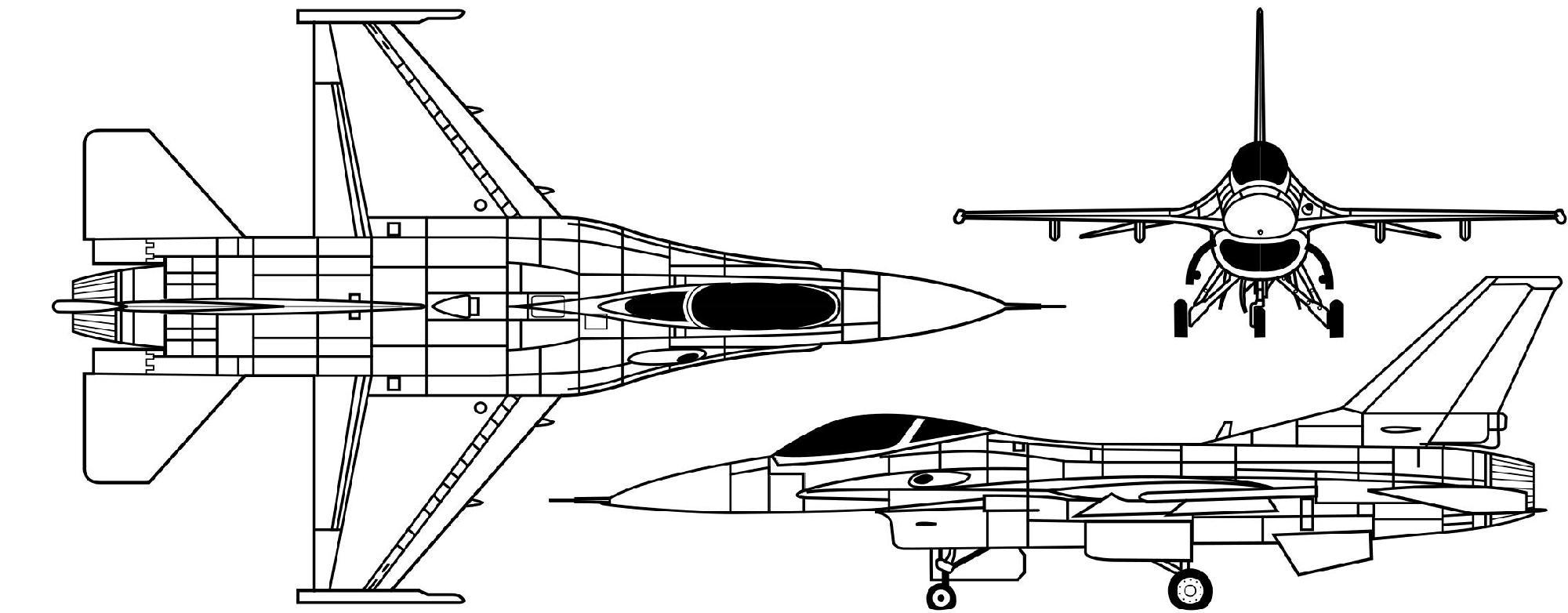 f-16三视图
