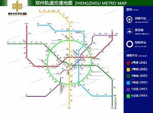 郑州地铁线路图图片