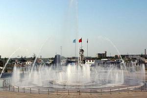 邢台学院广场喷泉