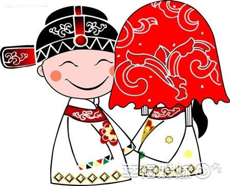 结婚打扮公婆化妆图