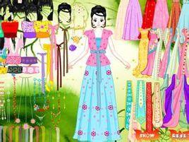 古装美女是一款装扮的小游戏