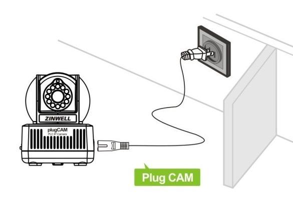 电力线摄像头安装  步骤一:将摄像头安装在家中