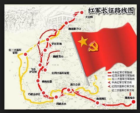 红军长征路线图