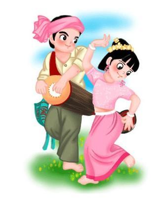 云南傣族姑娘 傣族姑娘图片欣赏 傣族姑娘简笔画