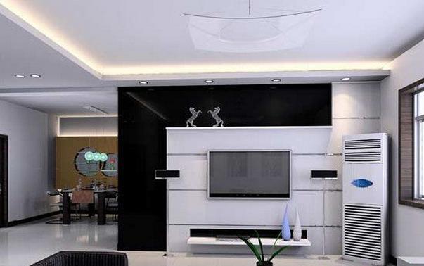 电视背景墙效果图黑色欧式